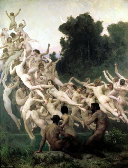 Bouguereau, William Adolphe: The Oreads. Fine Art Print/Poster. Sizes: A4/A3/A2/A1 (001623)
